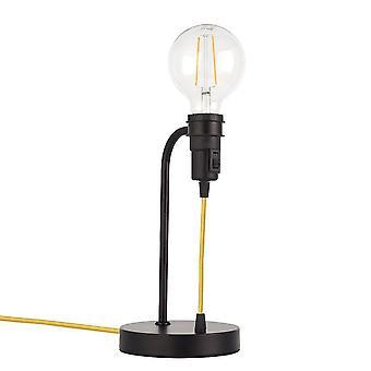 Endon Studio - 1 luz de mesa ligera mate negro, E27