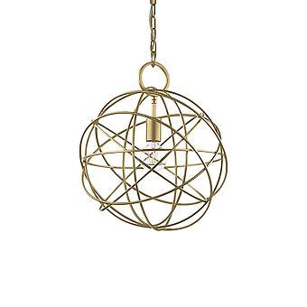 ideell lux konse - 1 lys sfærisk tak anheng gull