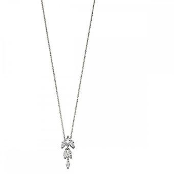 Elements Silver Zirconia Marquise Necklace N4285C