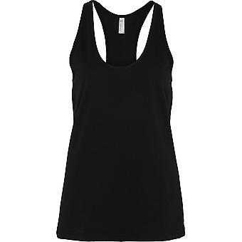 Ropa americana para mujer/damas fino Jersey algodón Racerback Tank Top