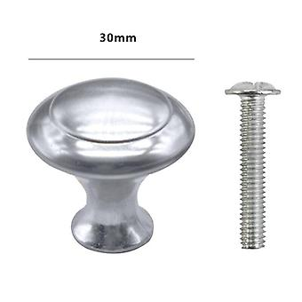 10 Pack Cabinet Door Knobs Brushed Nickel Round Drawer -handle Stainless Steel With Screw