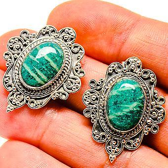 أقراط الأمازون 1 1/4 & quot; (925 الفضة الاسترليني) - اليدوية المصنوعة بوهو خمر مجوهرات EARR407048