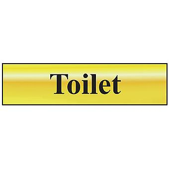 Scan Toilet - Polished Brass Effect 200 x 50mm SCA6051