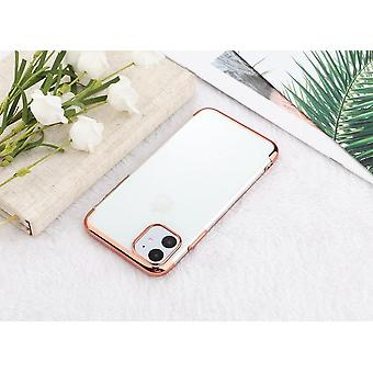 Electroplated TPU shell iPhone 12 mini with two screen protectors.
