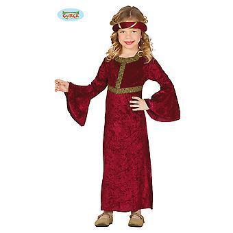Burgfräulein Kostüm für Mädchen Karneval Mittelalter Hofdame