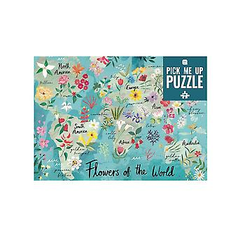 500 Piece Jigsaw Puzzle | Flowers of the World Game Adults Kids Party Gift