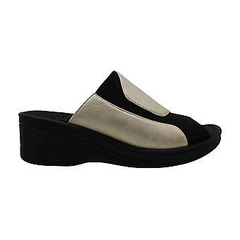 Easy Street Womens Slight Open Toe Casual Platform Sandals