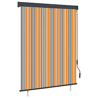 vidaXL Outer roller blind 140x250 cm yellow and blue