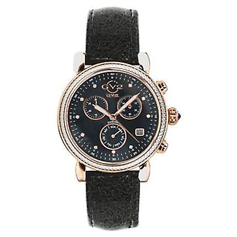 GV2-tekijä Gevril Women's Marsala 9848.7 Chronograph Swiss Quartz Diamond Watch