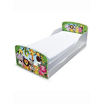 PriceRightHome Jungle Toddler Bed with Underbed Storage and Fibre