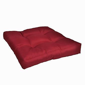 وسادة مقعد منصات 50 × 50 × 10 سم النبيذ الأحمر
