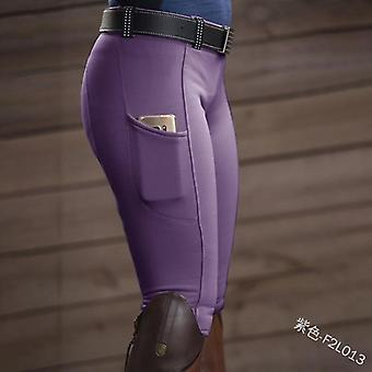 Skinny Horse Ridding Pants, Tight Knee Patch Capris Chaps Bootcut Rider Trouser