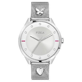 Furla Women'S Pin Silver Dial  Band Watch