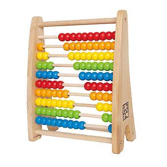 Hape E0412 Regenbogen Perlen Abacus
