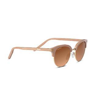 Serengeti Lela 8940 Shiny Rose Acetate with Shiny Gold Metal/Mineral Polarised Drivers Gradient Sunglasses