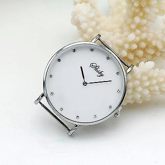 Diy osobnost hodinky záhlaví, nový styl tenký velký hlava s látkou popruh hodinky