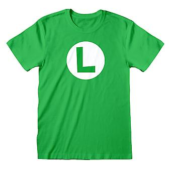 Camiseta do Nintendo Super Mario Luigi Badge