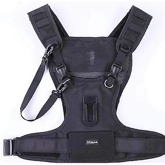 Nicama Camera Carrier Chest Harness Vest with Mounting Hubs & Backup Straps