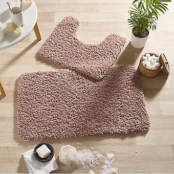 Buddy Bath Mat And Toilet Washableset In Nude