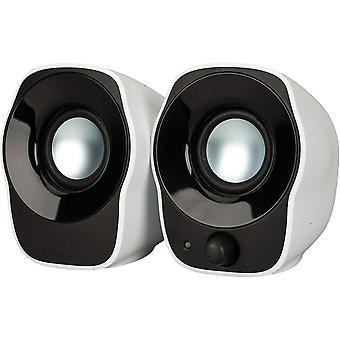 Logitech z120 compacte pc-stereoluidsprekers, 3,5 mm audio-ingang, usb-voeding, geïntegreerde bedieningselementen, kabel