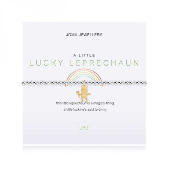 Joma sieraden een beetje kabouter zilver en geel goud 17,5 cm stretch armband 3997