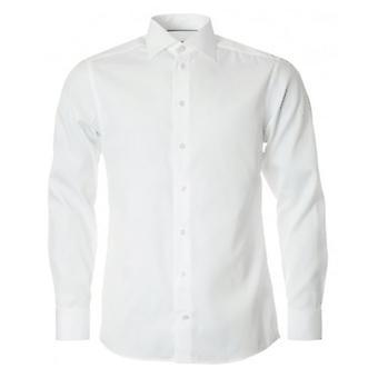 Eton Shirts Plain Poplin Double Cuff Shirt