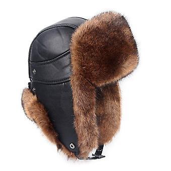 Winter Ear Flaps Faux Hats