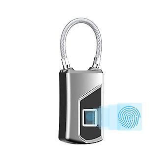 IPRee USB Smart Electronic Fingerprint Padlock Waterproof Anti-theft Suitcase Bag Safety Lock Outdoo