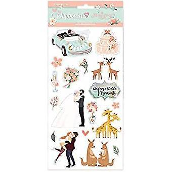 Stamperia Chipboard 15x30cm Wedding Subjects