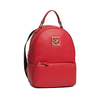 Liu-jo Better Backpack M Red Faux Leather Backpack Bs21lj16 Aa1116