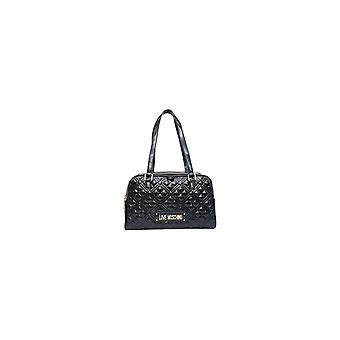 שקית אישה אהבה Moschino קניות Ecopelle מרופד שחור B21mo121