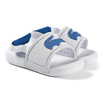 Lacoste l.30 vauvan valkoiset/siniset liukusäätimet