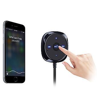 Wireless bt audio music receiver 3.5mm adapter handsfree car aux speaker