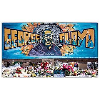 George Floyd Wooden Jigsaw Puzzle #t182