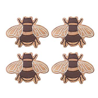 Sass & Belle Wooden Bee Coasters - Set of 4