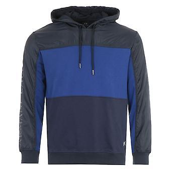 Armani Exchange Panelled Hooded Sweatshirt - Blue