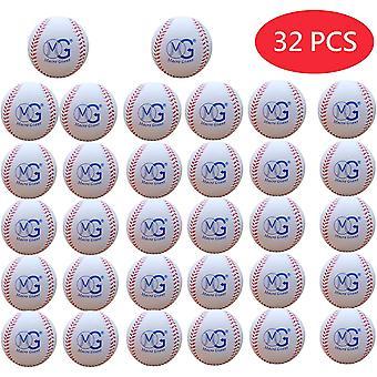 Macro Giant 2.8-Inch / 7 cm (dia.), 9-Inch (circum.) Soft Foam Baseball, Set of 32, Assorted Colors,