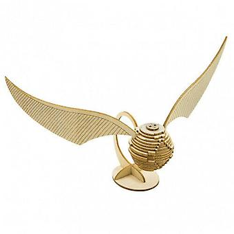 Incredibuilds HP Golden Snitch 3D Wood Model and Booklet
