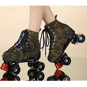 Leather Roller Blades Skates Shoes