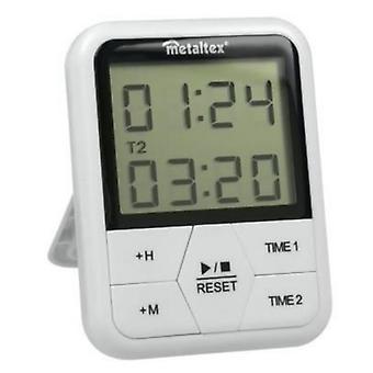 digitale Zeitschaltuhr magnetisch 11 x 8 cm weiß