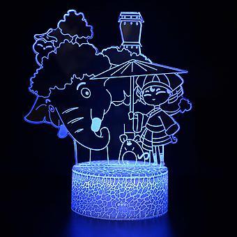 3D LED Night Light, 16 farver desktop dekoration, USB Touch & Remote Night Lamp, Bedste fødselsdag julegave til drenge, piger, børn