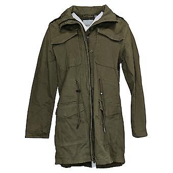 باجيتيل المرأة مجموعة كبيرة القطن Anorak معطف الزيتون الأخضر A445083