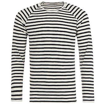 Nudie Jeans Co Breton Stripe Long Sleeve T-Shirt - Black & White