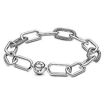 Pandora Silver Women's Ring Link Bracelet - 598373-4