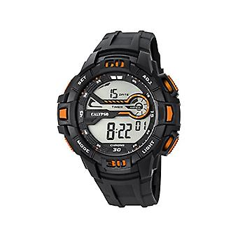 Calypso-Digitale Herren Armbanduhr, mit digitalem LCD-Display und Kunststoffarmband, Farbe: schwarz, 7 K5695