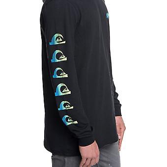 Quiksilver grov höger huva Långärmad T-shirt i svart