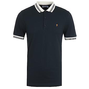 Farah Stanton Organic Cotton Polo Shirt - Navy