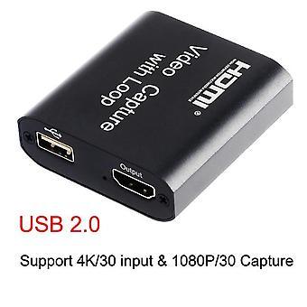 Hd 1080p 4k Hdmi Usb 2.0 Video Capture Board Peli tallentaa live streaming