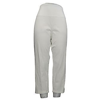 Kvinder med kontrol Regelmæssig Mave Control Crop Jeans White Large