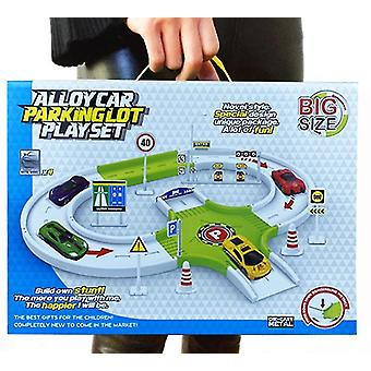 Style1 fire engineering vehicle racing track parking lot car educational toy set x528